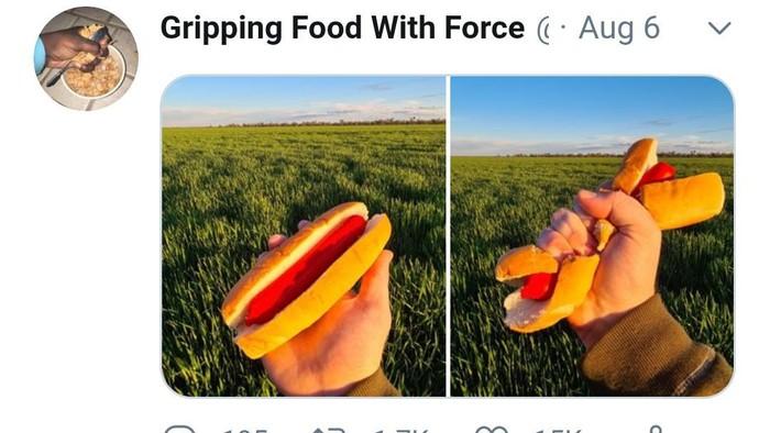 meremas makanan