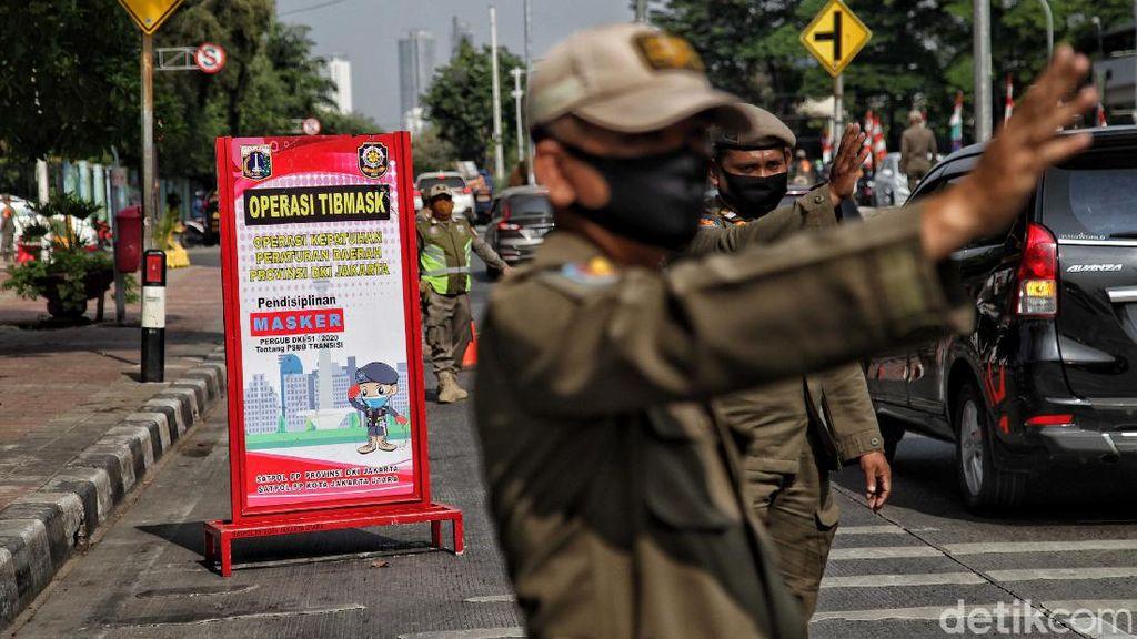 Razia Masker Diperketat di Jakarta Utara