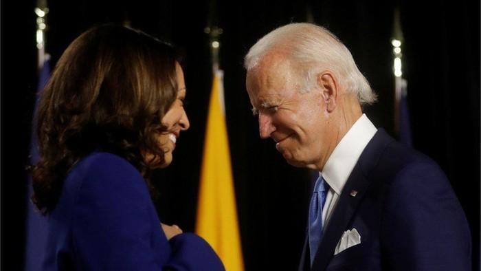 Pilpres AS: Kampanye perdana, Joe Biden dan Kamala Harris sebut Trump nyinyir dan membuat Amerika Serikat compang-camping