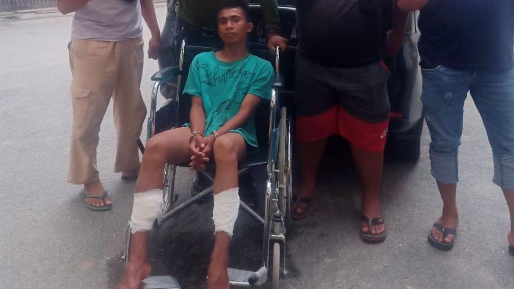 Dor! Polisi Tembak Remaja yang Bacok Tangan Pedagang Susu di Palu