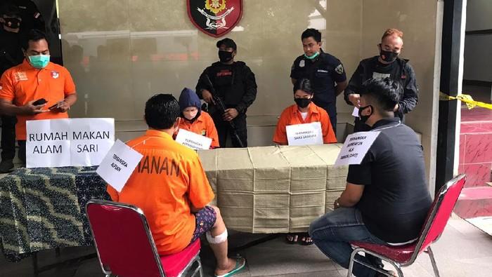Rekonstruksi perencanaan pembunuhan WN Taiwan digelar di Polda Metro