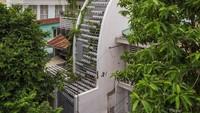 Rumah Bentuk Tabung yang Kelihatan Nyempil, Bagian Dalamnya Bikin Takjub