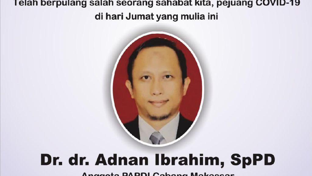 Dokter Ahli Penyakit Dalam di Makassar Meninggal Dunia Akibat COVID-19