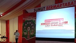 Pimpin Groundbreaking, Gubsu Targetkan Sport Center Sumut Tuntas 2023