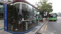 Canggih! Halte Bus di Korsel Bisa Deteksi Dini Corona Lho