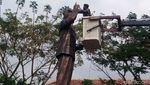 Jelang HUT RI, Kodim Boyolali Bersihkan Patung Pahlawan