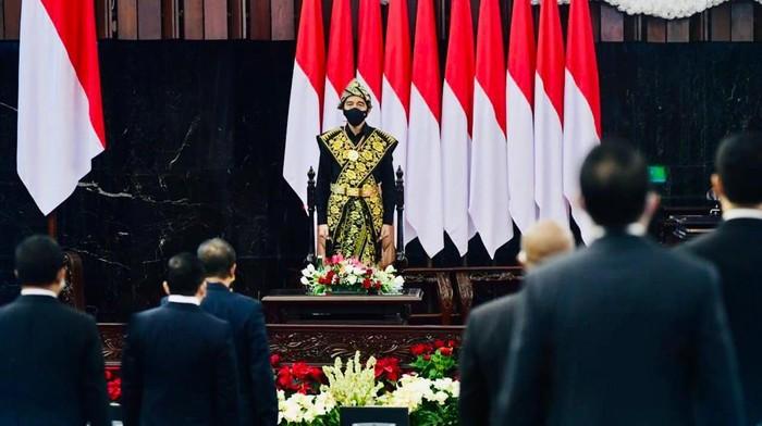 Presiden Jokowi menghadiri sidang tahunan MPR DPR dan DPD 2020
