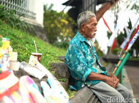 Ngadimin Citro Wiyono atau Mbah Min, mantan mata-mata zaman Belanda, Jumat (14/8/2020).