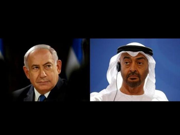 PM Israel Benjamin Netanyahu dan Pemimpin UEA Mohammed bin Zayed