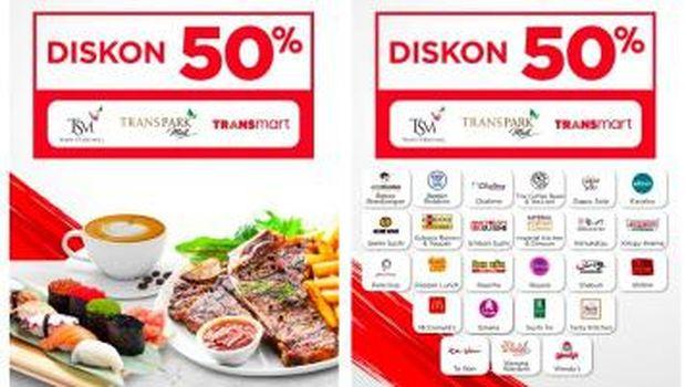 Ini Daftar Resto Diskon 50 Makan Pakai Kartu Kredit Bank Mega