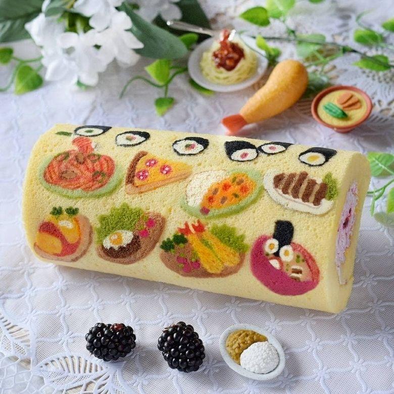 kreasi roll cake