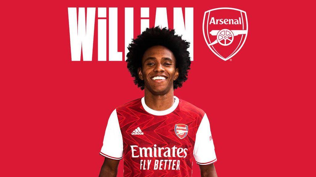 Sah! Willian Kini Berseragam Arsenal