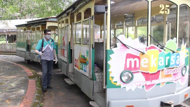Menjelang akan beroperasinya kembali Taman Buah Mekarsari yang rencananya akan dibuka pada sabtu 15 Agutus 2020 pengelola sudah mempersiapkan protokol kesehatan covid-19 bagi para pengunjung yang berwisata.