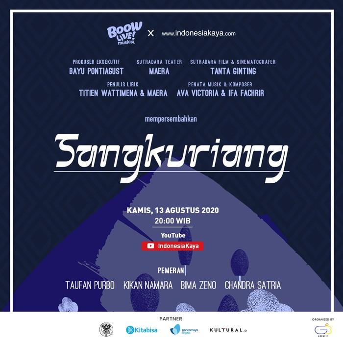 Teater Musikal Sangkuriang Resmi Tayang di YouTube IndonesiaKaya