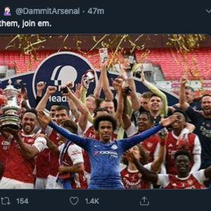 Foto: Willian ke Arsenal, Netizen Julid