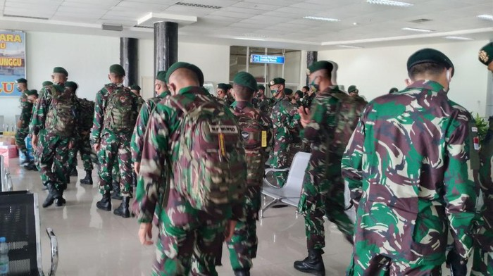 150 Personel BKO TNI AD tiba di Palu (dok. Istimewa).