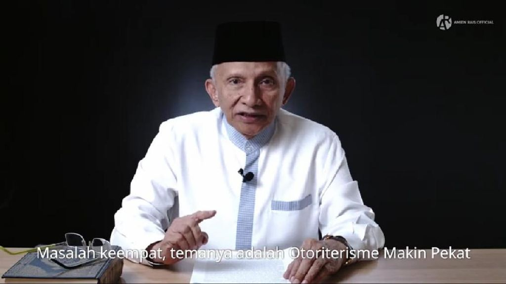 Amien Rais Sebut Jokowi Otoriter, Ungkit Firaun Vs Musa Pakai Dalil