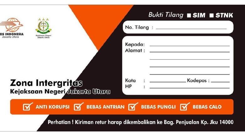 Formulir Pengurusan Tilang Lewat Pos Indonesia