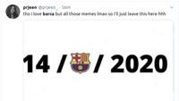 Kocak! Meme Barcelona yang Dilumat Habis-habisan Bayern Munich