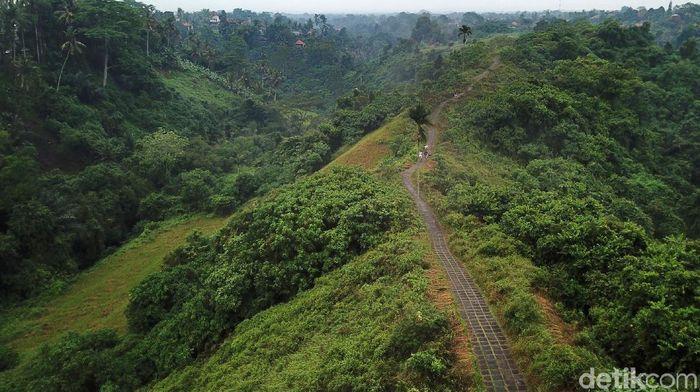 Suasana tenang dan asri tampak terlihat di Campuhan Ridge Walk, Ubud, Gianyar, Bali, Beberapa waktu lalu.