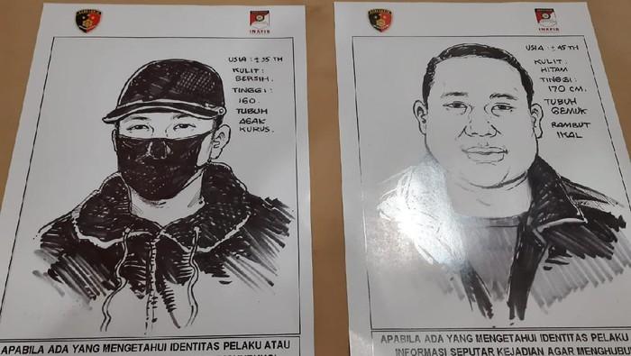 Polres Metro Jakarta Utara merilisi wajah terduga penembak pengusaha di Kelapa Gading