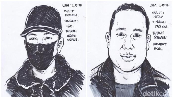 Polres Metro Jakarta Utara merilisi wajah terduga penembak pengusaha di Kelapa Gading. (dok Polres Jakut)