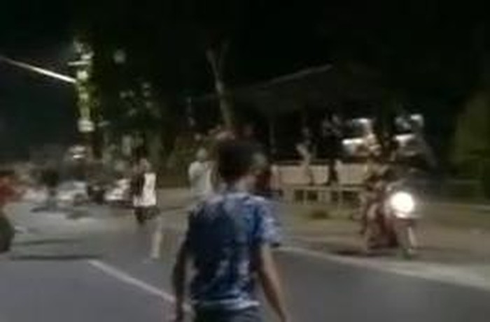 Screenshot viral balap lari liar di Pematangsiantar (dok. Instagram @kevinjhodys)