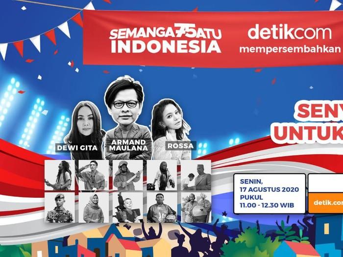 Senyum untuk Kamu Spesial, di acara Semangat Satu Indonesia detikcom