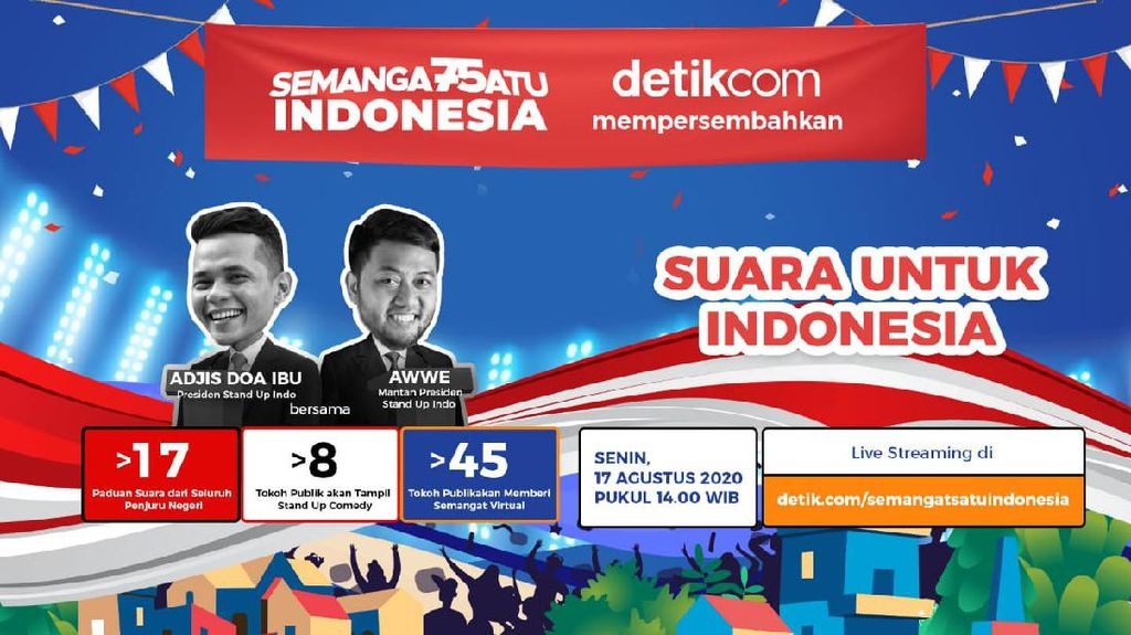 Suara untuk Indonesia: Nada-nada 17 Agustus hingga Canda Politikus