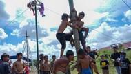 Foto: Fakta tentang Panjat Pinang, Lomba Wajib di Kegiatan 17-an