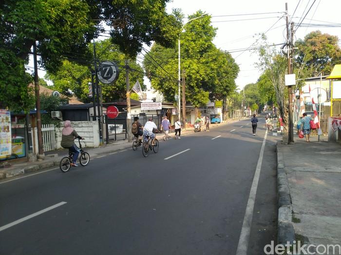 Jalan Cipete Raya tanpa Car Free Day, 16 Agustus 2020. (Sachril AB/detikcom)