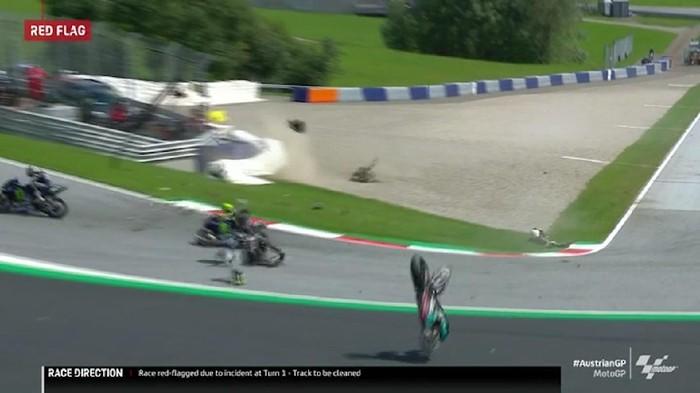 Johan Zarco crash Morbidelli GP Austria