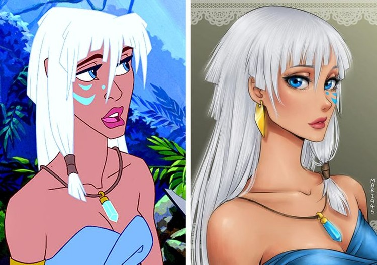 karakter disney jadi anime