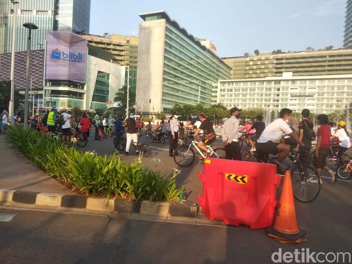 Kondisi CFD di Bundaran HI, 16 Agustus, pagi. (Jehan Nur Hakim/detikcom)
