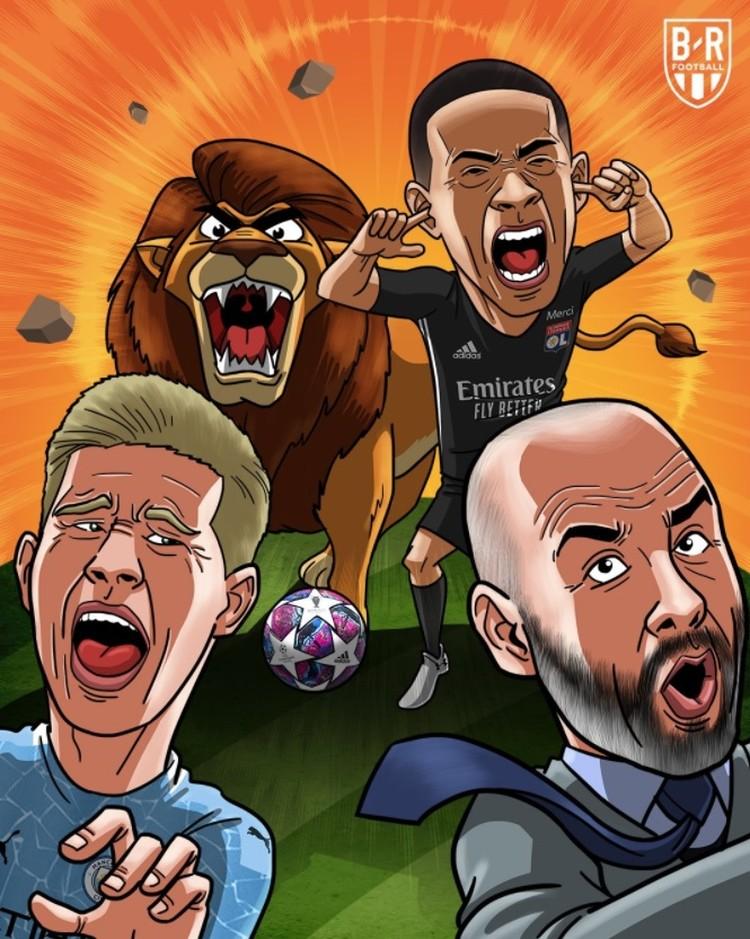 Man City gagal lagi dalam upaya untuk meraih trofi Liga Champions untuk pertama kalinya usai dikalahkan 1-3 oleh Lyon.