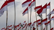 Ribuan Bendera Merah Putih Hiasi Poetoek Suko Mojokerto
