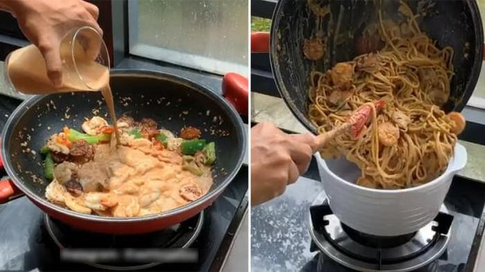 Spaghetti Carbonara Pakai Teh Tarik