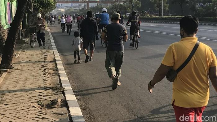 Suasana CFD Kota Bekasi yang masih didatangi warga