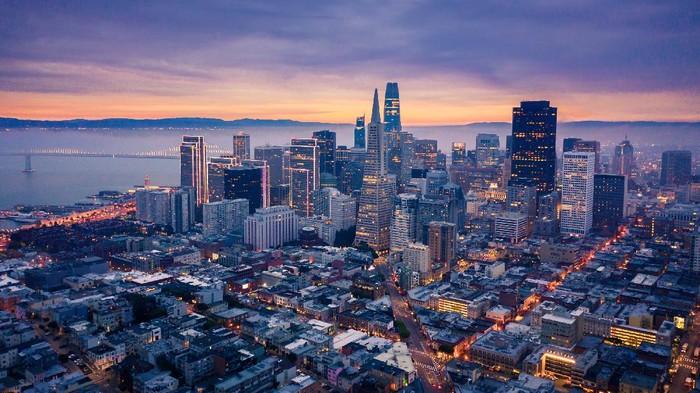 San Francisco Skyline at Dusk, California, USA
