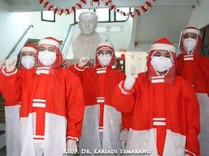 Hut ke-75 RI, Anne Avantie Bikin APD Merah Putih Gratis Buat Tenaga Medis