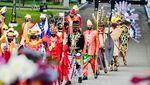 Foto Jokowi Berbusana Adat NTT di HUT RI ke-75