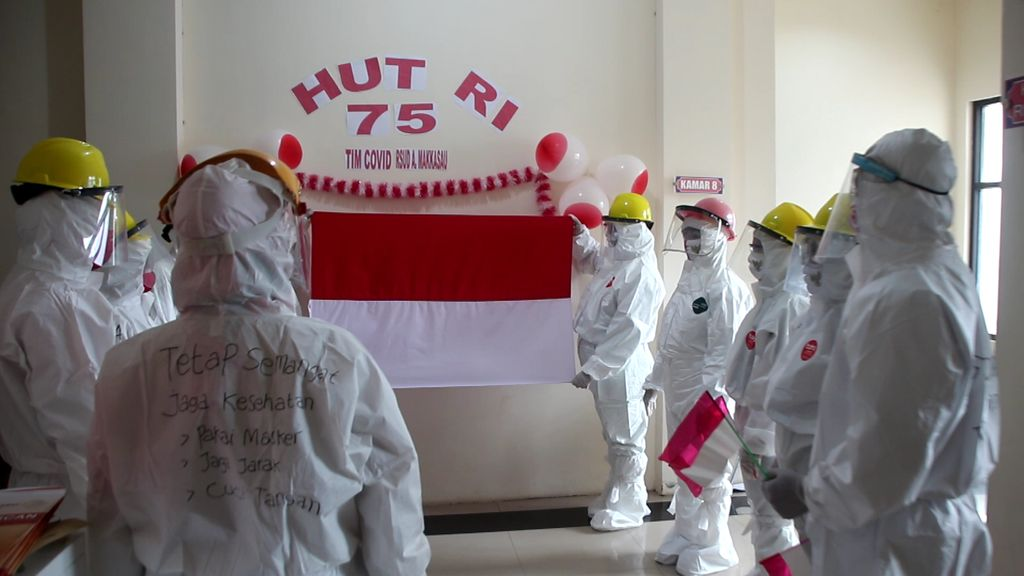 HUT ke-75 RI di RSU Andi Makassau, Parepare. (Hasrul Nawir/detikcom)