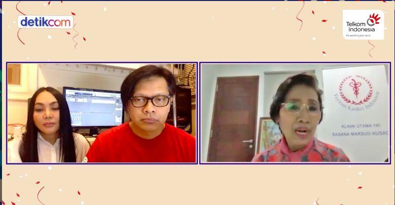 Ibu Kentik, Armand Maulana, dan Dewi Gita dalam Senyum untuk Kamu Spesial, Semangat Satu Indonesia (detikcom)