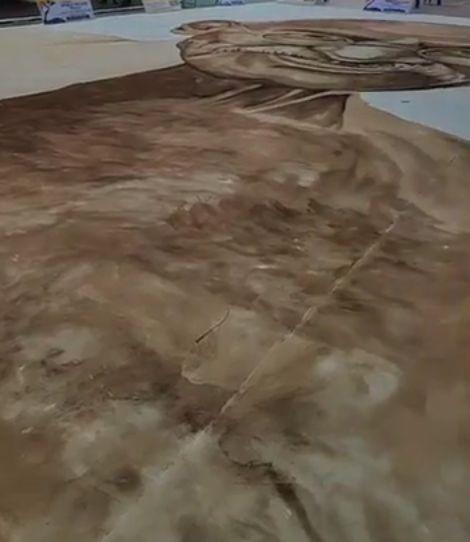 Lukisan Mahatma Gandhi dari Kopi