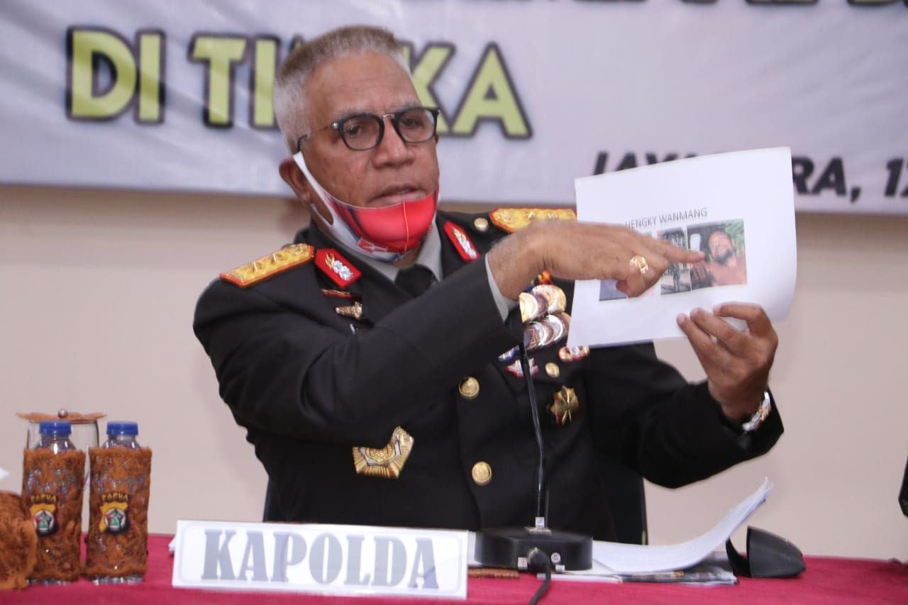Pimpinan KKB Papua Hengky Wanmang Tewas Tertembak Tim Gabungan TNI-Polri