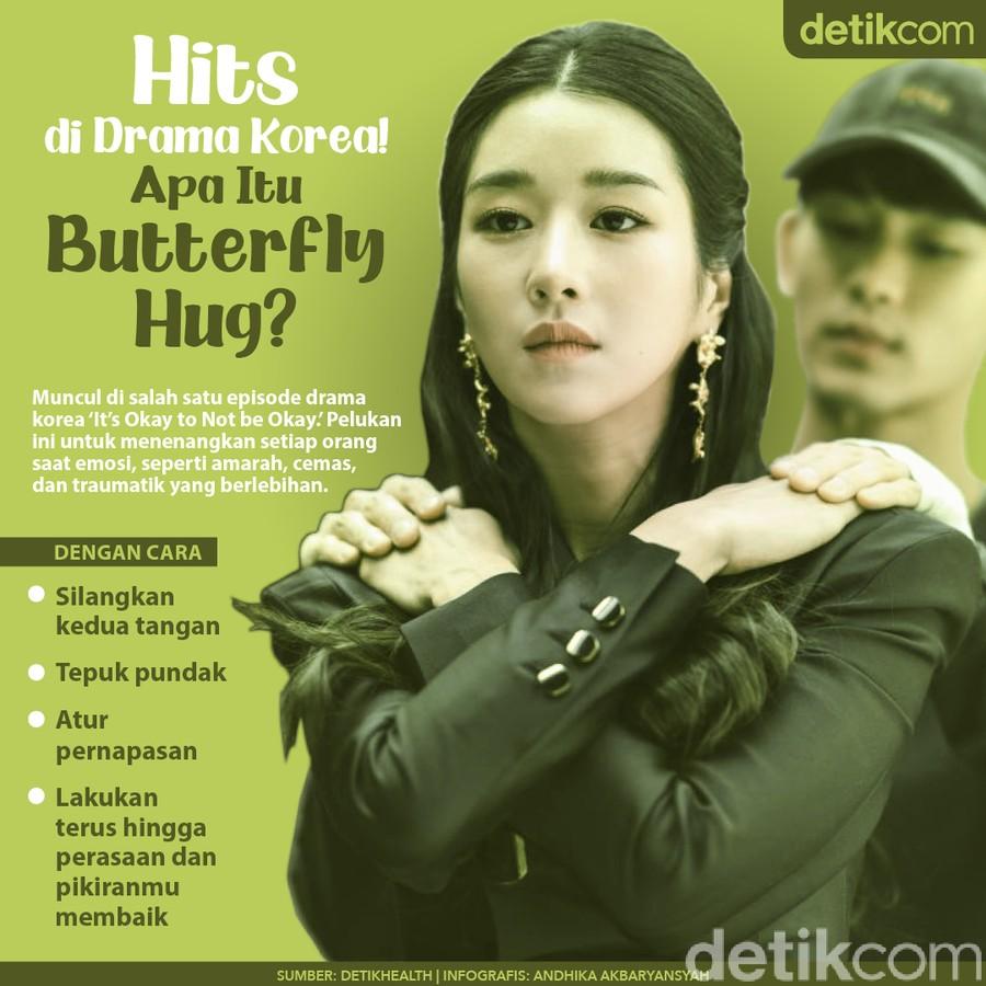 Redam Emosi dengan Butterfly Hug ala Drakor, Begini Cara Melakukannya