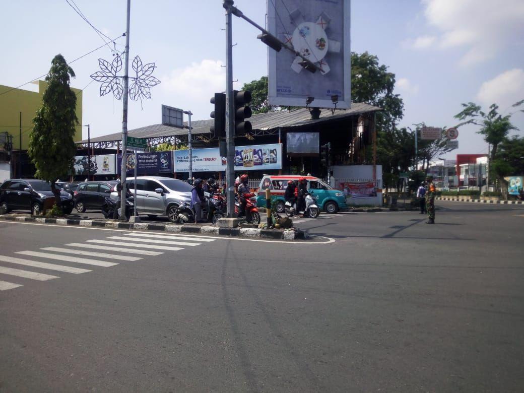 Suasana di Simpang Halat Medan saat detik-detik proklamasi HUT RI ke-75