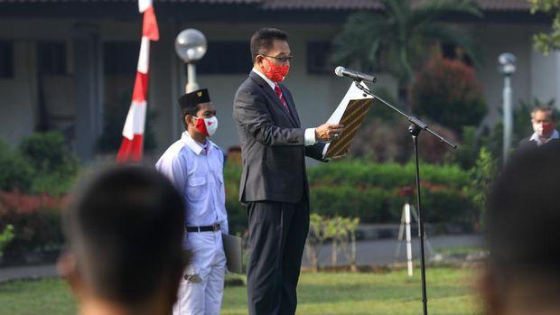 PBSI menggelar upacara HUT ke-75 RI.