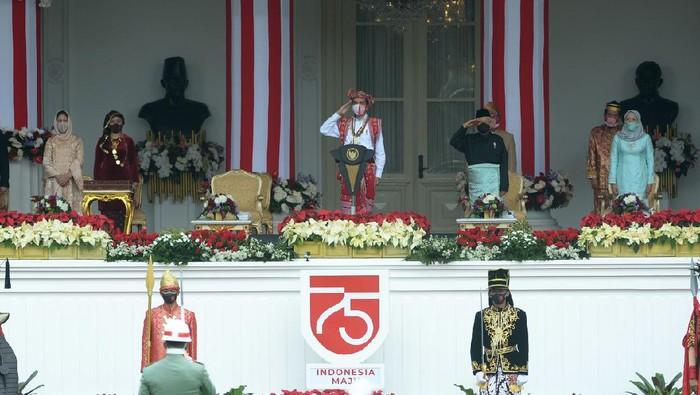 Upacara Peringatan HUT Ke-75 RI di Istana