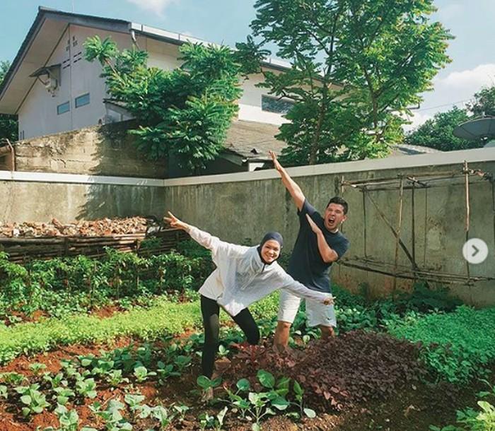 Cerita Haykal Kamil dan Istri Garap Kebun di Kompleks yang Kini Produktif